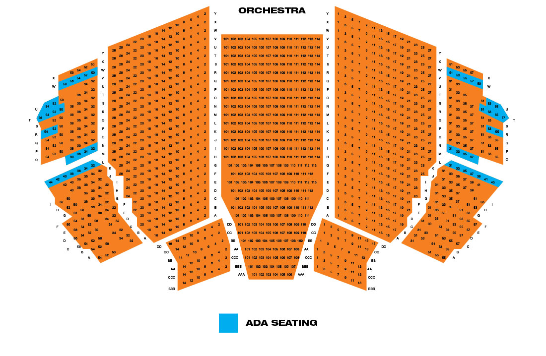 playhouse seating plan opera house