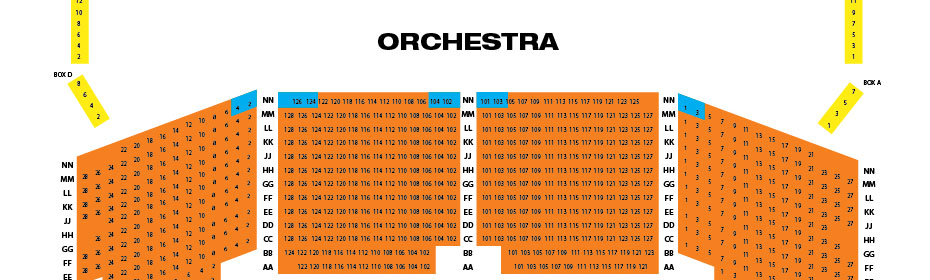Broward center seating chart