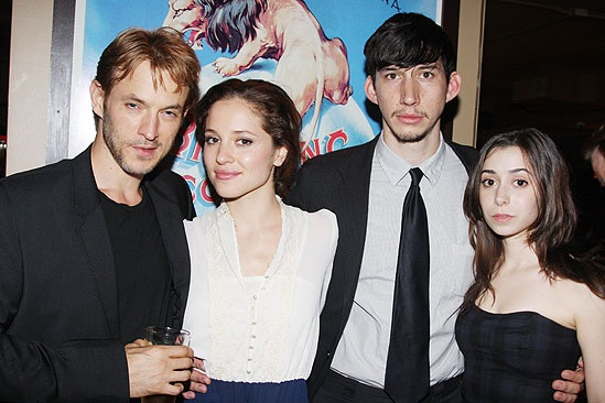 The Retributionists Opening Night – Adam Rothenberg – Margarita Levieva – Adam Driver – Cristin Milioti