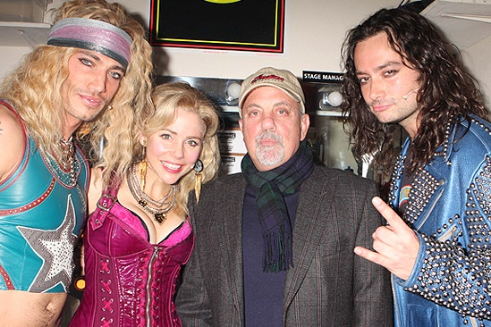 Billy Joel at Rock of Ages - Billy Joel - James Carpinello - Kerry Butler - Constantine Maroulis