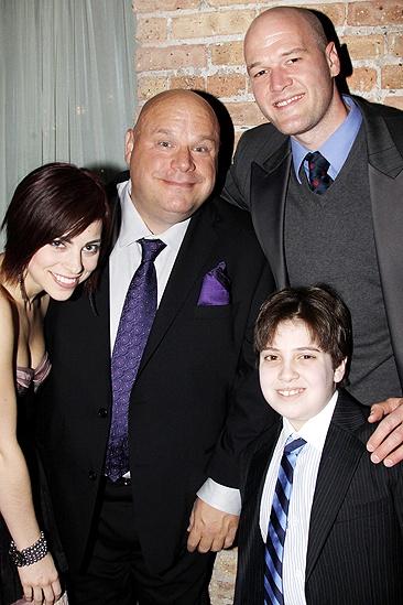 Addams Family Chicago opening – Krysta Rodriguez – Kevin Chamberlin – Zachary James – Adam Riegler