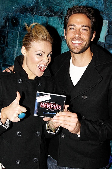 Zachary Levi at Memphis - Caitlin Crosby - Zachary Levi