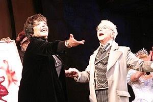 Liza Minnelli at Wicked - Liza Minnelli - Joel Grey (onstage)