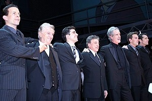 Jersey Boys Opening - Curtain Call - Christian Hoff - Tommy DeVito - John Lloyd Young - Frankie Valli - Bob Gaudio - Daniel Reichard - J. Robert Spencer
