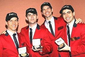 Jersey Boys at NYSE - Christian Hoff - Daniel Reichard - J. Robert Spencer - John Lloyd Young