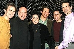 Liza Minnelli at Jersey Boys - Daniel Reichard - Donnie Kehr - Liza Minnelli - Christian Hoff - John lloyd Young - J. Robert Spencer