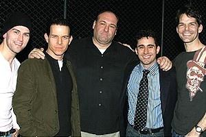 James Gandolfini at Jersey Boys - Daniel Reichard - Christian Hoff - James Gandolfini - John Lloyd Young - J. Robert Spencer