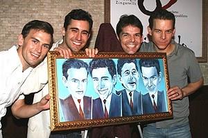 Photo Op - Jersey Boys Portrait Unveiling -  Daniel Reichard - John Lloyd Young - J. Robert Spencer - Christian Hoff