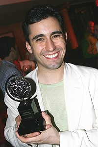 Photo Op - Jersey Boys Portrait Unveiling - John Lloyd Young ( with Tony Award)