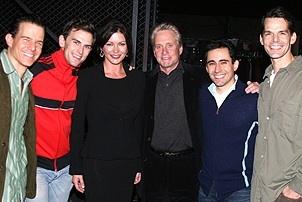Catherine Zeta-Jones and Michael Douglas Visit Jersey Boys - Christian Hoff - Daniel Reichard - Catherine Zeta-Jones - Michael Douglas - John Lloyd Young - J. Robert Spencer