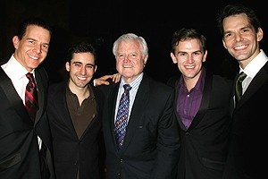 Photo Op - Ted Kennedy at Jersey Boys - Christian Hoff - John Lloyd Young - Ted Kennedy - Daniel Reichard - J. Robert Spencer