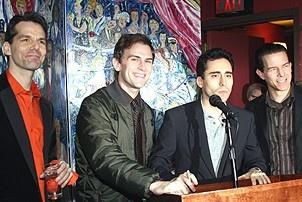 Photo Op - Jersey Boys does Actors' Fund benefit 2007 - J. Robert Spencer - Daniel Reichard - John Lloyd Young - Christian Hoff