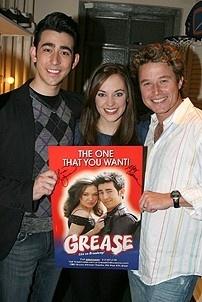 Billy Bush at Grease - Max Crumm - Laura Osnes - Billy Bush