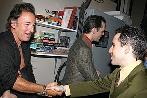 Photo Op - Bruce Springsteen at Jersey Boys - Bruce Springsteen - John Lloyd Young