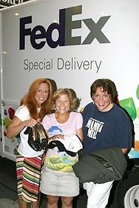 Photo Op - Mamma Mia! Fed Ex Event - Carolee Carmello - Carey Anderson - Gina Ferrall  (their items)