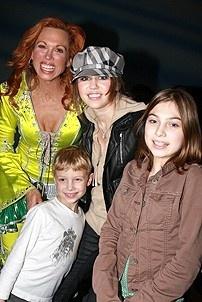 Photo Op - Miley Cyrus at Mamma Mia! - Carolee Cramello - Miley Cyrus - Carmello's son and daughter