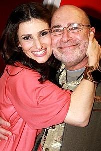 Idina Menzel at Virgin - Idina with dad