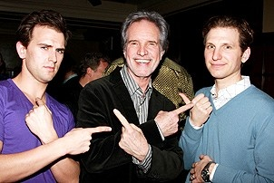 Jersey Boys Celebrate 1000 - Daniel Reichard - Bob Gaudio - Sebastian Arcelus (silly faces)