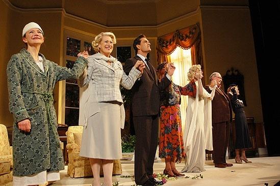 Blithe Spirit Opening Night - curtain call cast