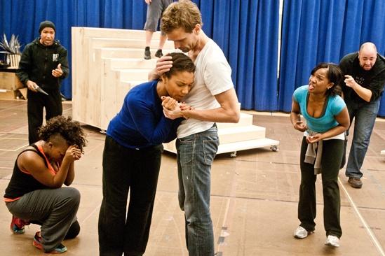 In Rehearsal with Jesus Christ Superstar – Mark Cassius – Katrina Reynolds - Mary Antonini - Paul Nolan - Karen Burthwright - Lee Siegel