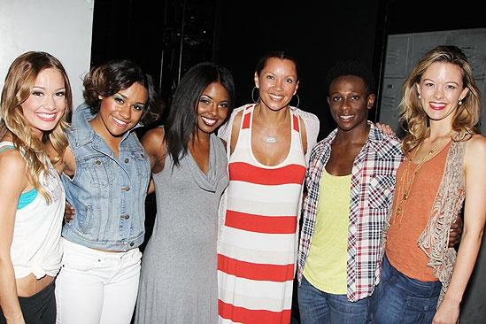 Vanessa Williams Visits Bring It On – Elle McLemore – Ariana DeBose - Adrienne Warren - Vanessa Williams – Gregory Haney – Kate Rockwell