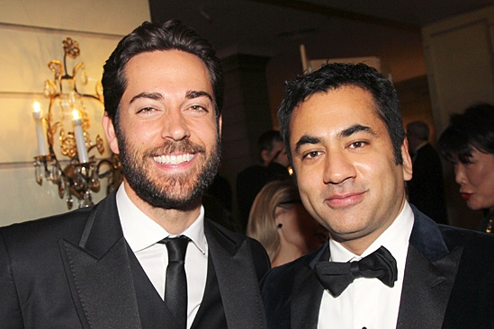 Drama League gala for NPH - 2014 - Zachary Levi - Kal Penn