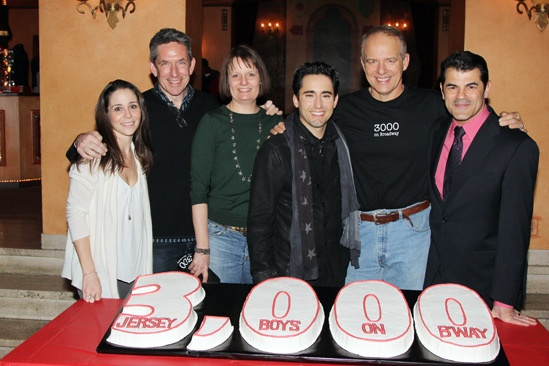 Jersey Boys - 3000th Performance - Sarah Scmidt - Richard Hester - Michelle Bosch - John Lloyd Young - Joe Payne - Peter Gregus