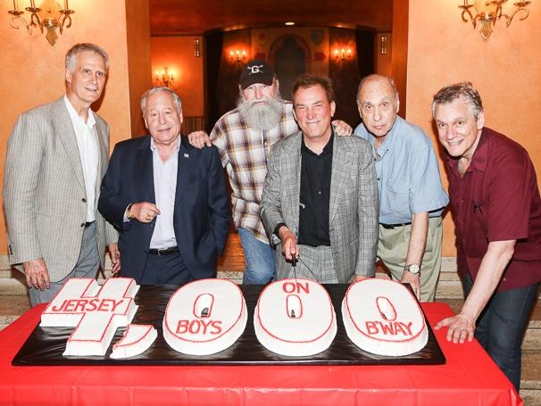 Jersey Boys - 4,000 Performances - 7/15 - Ed Strong - Joseph Grano - Michael David - Des McAnuff - Marshall Brickman - Rick Elice