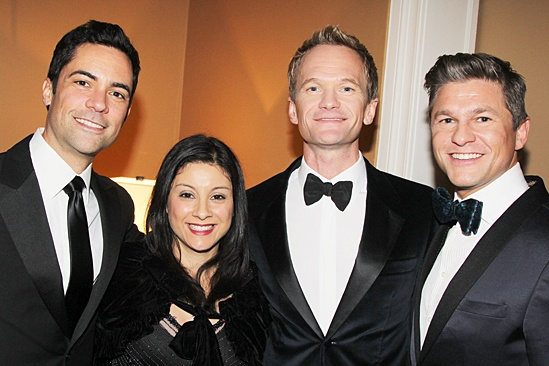 Drama League gala for NPH - 2014 - Danny Pino - Lilly Pino - Neil Patrick Harris - David Burtka