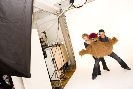 Avenue Q Final Cast Photo Shoot - Jennifer barnhart - Christian Anderson
