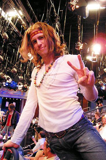 Hair in LA - Gavin Creel (peace sign)