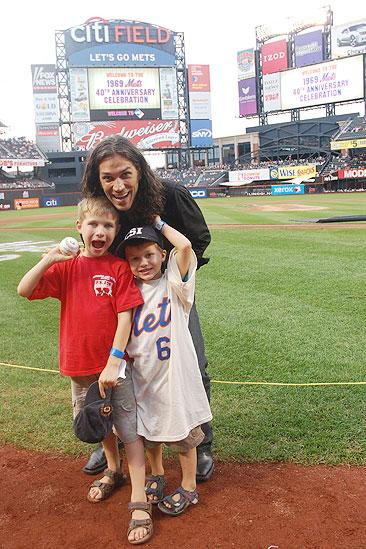 Will Swenson Sings at Mets Game - Will Swenson - sons (on field)
