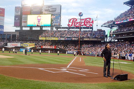 Will Swenson Sings at Mets Game - Will Swenson (jumbotron)