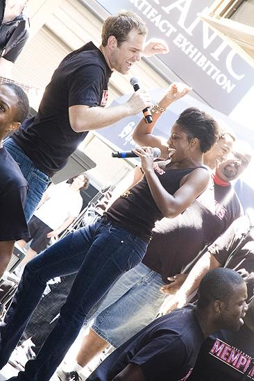 Memphis BBQ Meet and Greet - Chad Kimball - Montego Glover (dancing)