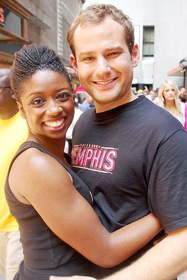 Memphis BBQ Meet and Greet - Montego Glover - Chad Kimball (hug)
