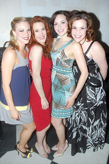 The Marvelous Wonderettes One Year Anniversary - Kirsten Bracken - Misty Cotton - Christina Decicco - Lindsay Mendez dressed up