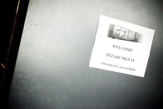 Fela Rehearsal - Door