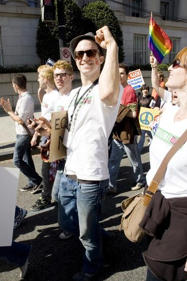 Hair at the National Equality March - Gavin Creel color