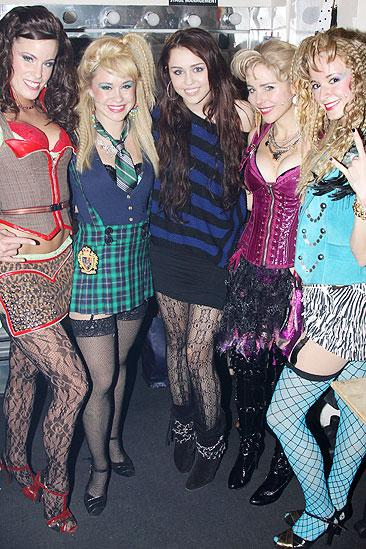 Miley Cyrus at Rock of Ages – Katherine Tokarz - Becca Tobin - Miley Cyrus - Kerry Butler - Emily Padgett