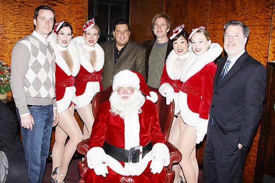 Make-A-Wish Foundation at The Radio City Christmas Show - Lawrence Tynes - Steve Schirripa - Matthew Modine - Hank Ratner - Santa Claus