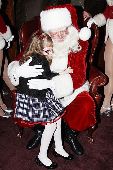 Make-A-Wish Foundation at The Radio City Christmas Show - girl - Santa Claus
