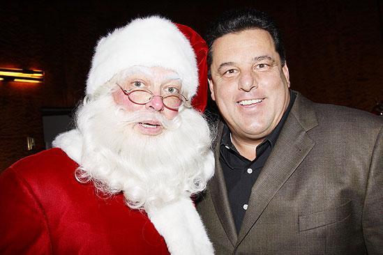 Make-A-Wish Foundation at The Radio City Christmas Show - Santa - Steve Schirripa
