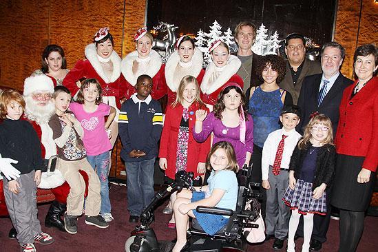 Make-A-Wish Foundation at The Radio City Christmas Show - group shot