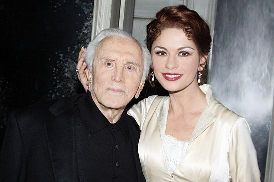 Kirk Douglas at A Little Night Music - Kirk Douglas - Catherine Zeta-Jones head shot