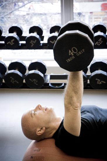 A Day in the Life Michael Cerveris - Michael Cerveris lifting