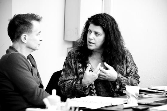 Next Fall Rehearsal - Geoffrey Nauffts - Sheryl Kaller