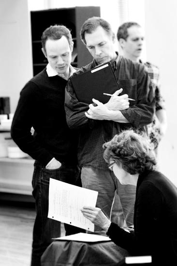 Next Fall Rehearsal - Sean Dugan - Cotter Smith - Connie Ray - Patrick Breen