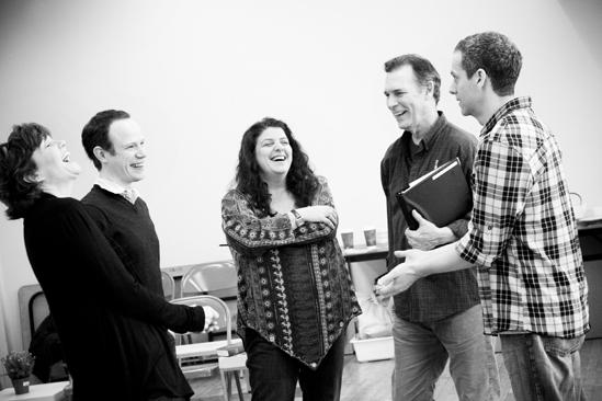 Next Fall Rehearsal - Connie Ray - Sean Dugan - Sheryl Kaller - Cotter Smith - Patrick Breen
