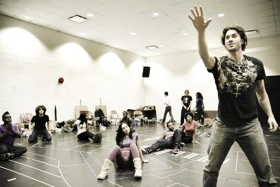 Hair Replacement Cast Rehearsal – Ace Young (singing)