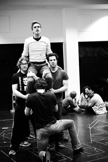 Hair Replacement Cast Rehearsal – Kyle Riabko (pyramid)